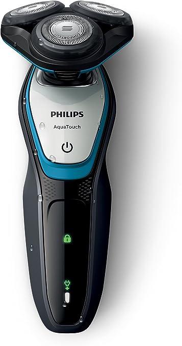 Philips AquaTouch S5070/04 - Afeitadora (Máquina de afeitar de rotación, SH50, 2 año(s), Azul, Gris, AC/Batería, Níquel-metal hidruro (NiMH)): Amazon.es: Hogar