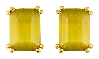 230005d5f3ce7 Buy ATANDRITAH JEWELLERS Green Mustard Stud Earrings for Women ...