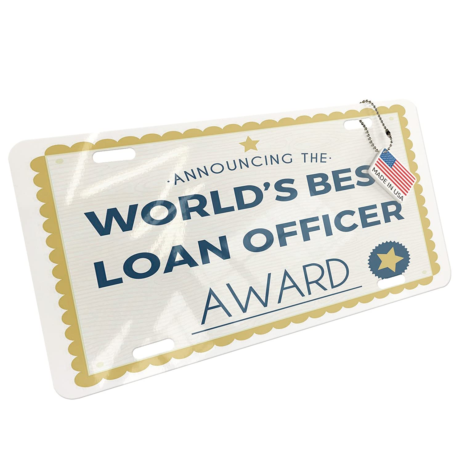 Amazon Neonblond Metal License Plate Worlds Best Loan Officer