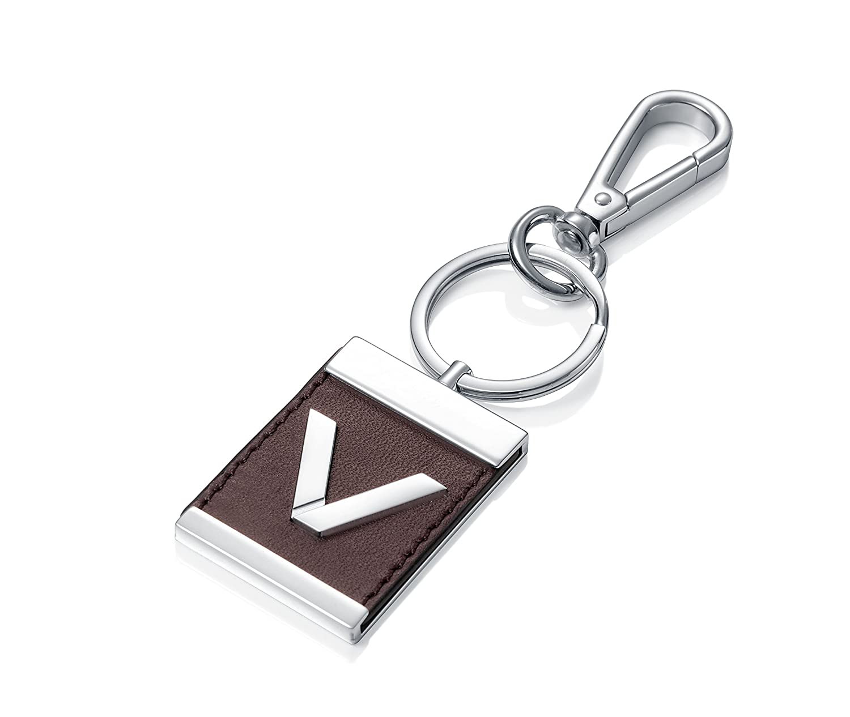 Llavero Viceroy acero y piel marrón: Amazon.es: Joyería