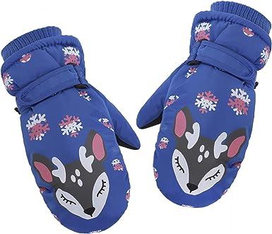 Kids Winter Snow Ski Gloves Waterproof Snowboard Outdoor Riding Warm Thick Gloves Mittens