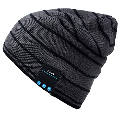 Mydeal Bluetooth Hat Adult Unisex Trendy Soft Warm Knit Slouchy Beanie  Skully Hat with Wireless Headphone e1eb6b0c5b7