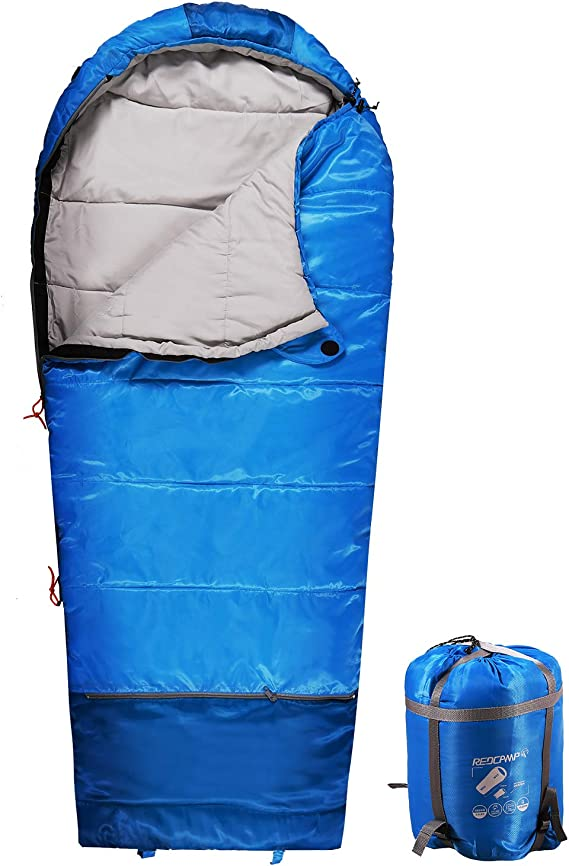 32-77 Degree 3 Season Warm or Cold Weathe Details about  /REDCAMP Kids Sleeping Bag for Camping