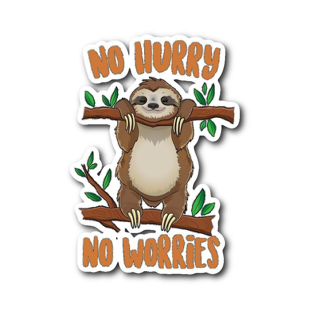 Amazon com no hurry no worries funny sloth sticker sloth decal sloth sticker for laptop sloth sticker for cars funny sloth gifts home kitchen