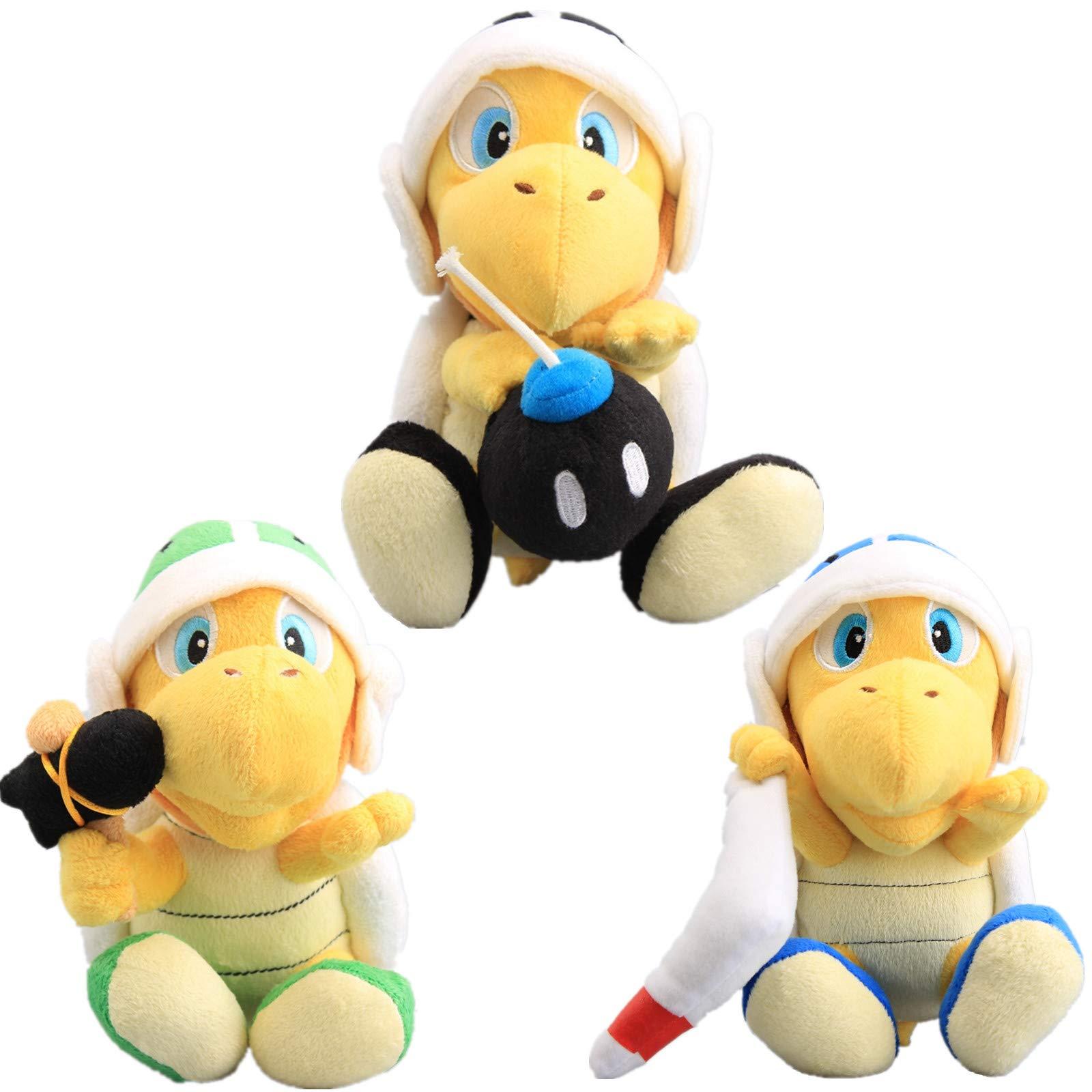 uiuoutoy Super Mario Bros. Hammer Bro & Boomerang Bro & Bomb Bro Koopa Plush 8'' Set of 3pcs by uiuoutoy
