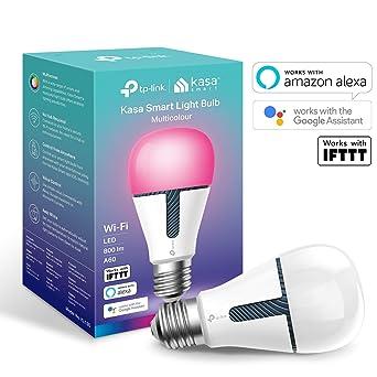 TP-LINK Bombilla LED funciona con Alexa altavoz inteligente y Google Home, Bombilla WiFi