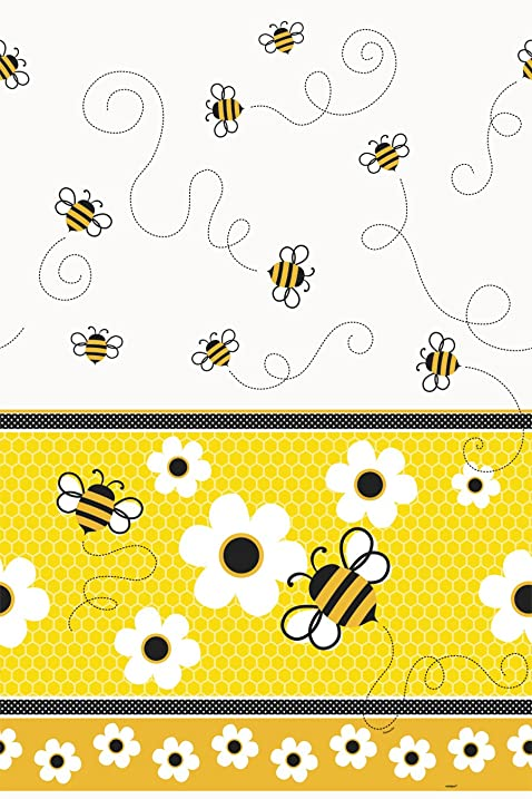 Bumble Bee Plastic Tablecloth 84quot