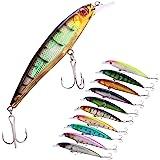Sougayilang Minnow Fishing Lures Crankbaits Set Fishing Hard Baits Swimbaits Boat Topwater Lures for Trout Bass Perch…