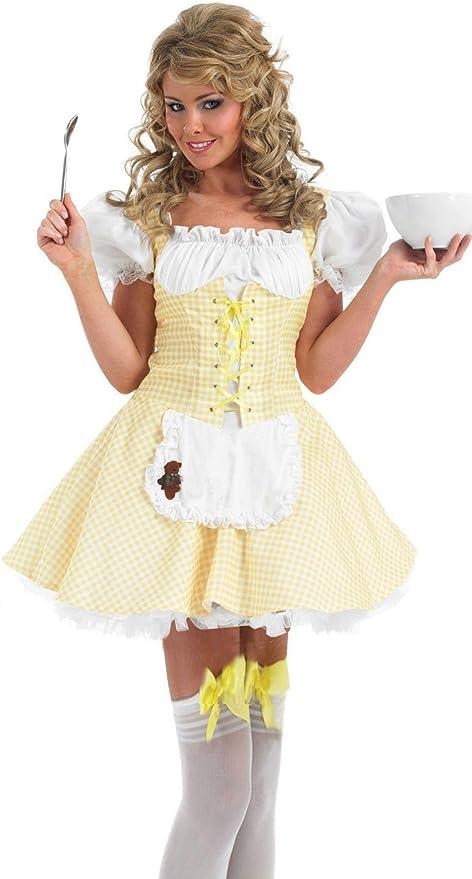 Forever Young - Vestido - Mujer Amarillo 44: Amazon.es: Ropa y ...