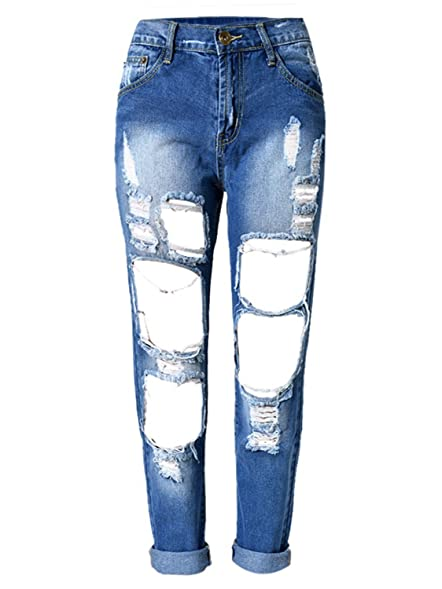 Jeans hose damen mit lochern