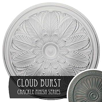 Ekena Millwork Cm22bocbc Bordeaux Ceiling Medallion 22 5 8 Od X 1 3 4 P Cloud Burst Crackle Amazon In Home Improvement