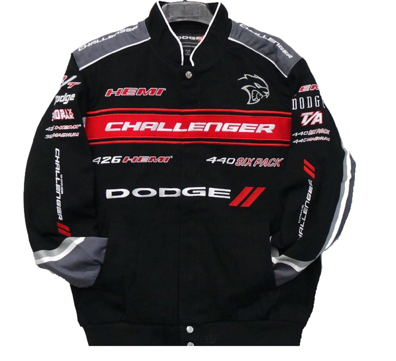 JH DESIGN Size 2XLarge Dodge Challenger Embroidered Cotton Jacket