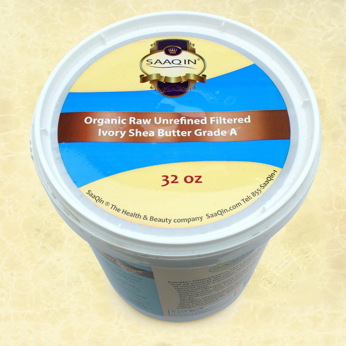 Authentic Organic Ivory Shea Butter - 32 Oz FILTERED & CREAMY, The Highest Quality Butter.