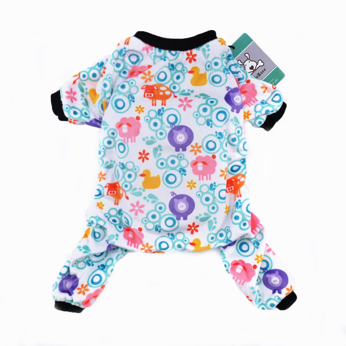 CuteBone Dog Pajamas Farm Dog Apparel Dog Jumpsuit Pet Clothes Pajamas P19S