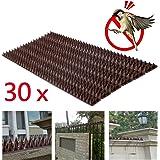 Pinchos para defensa de pájaros de Forever Speed contra palomas, gorriones y pichones, color marrón,…