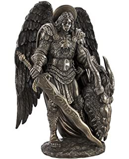 Michael Killing Dragon Statue 10.75 Inch Figurine by Pacific Giftware St