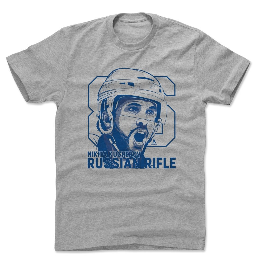 check out 8639c 55d8b Amazon.com : 500 LEVEL Nikita Kucherov Shirt - Tampa Bay ...