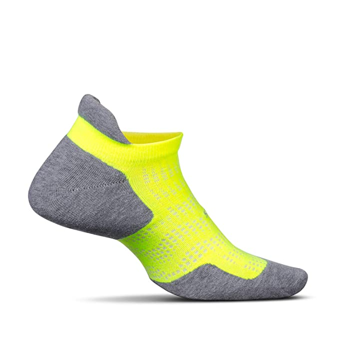e9cb946ead Feetures - High Performance Cushion - No Show Tab - Athletic Running Socks  for Men and Women - Reflector - Size Large