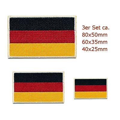 3 Allemagne drapeau berlin germany patch patch patch 0653 set stickers