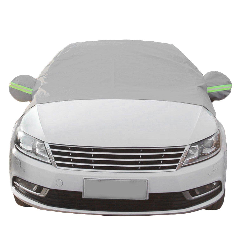 Épaissie Universal Auto pare-brise extérieur de la neige couvercle de la poussière protecteur de glace givre protecteur de pare-brise pare-soleil avec la barre d'avertissement réfléchissante