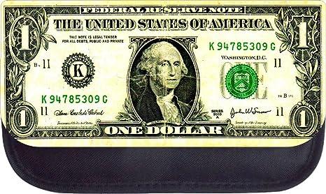 Dollar Bill Print Design Pencil Case Made In The U S A