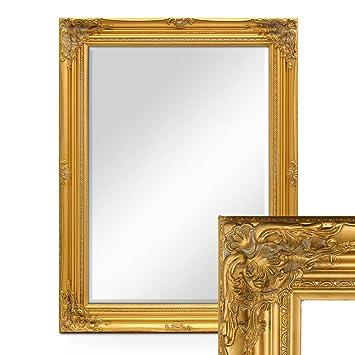 Photolini Wand Spiegel Im Barock Rahmen Antik Gold Mit