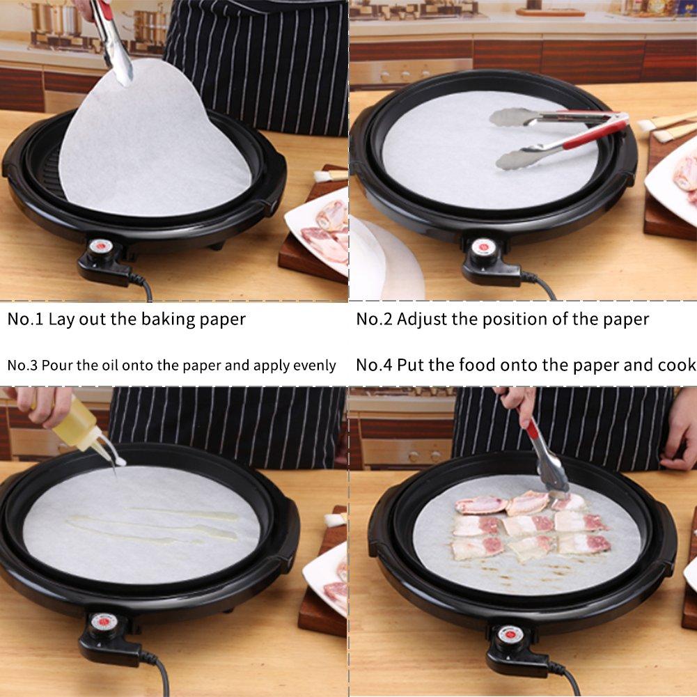 Cerchi da forno in pergamena set da 100 per tortilla 25,4 cm rotondi antiaderenti ecc. in carta pergamena