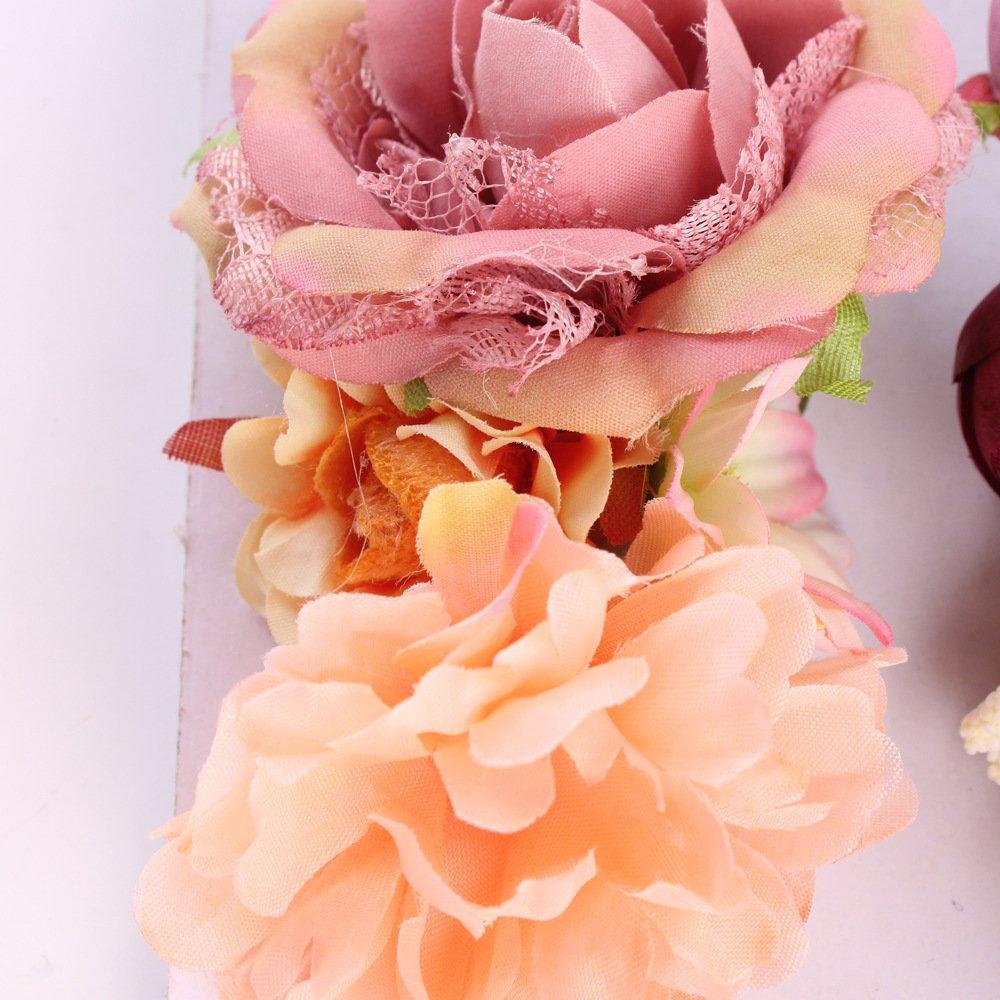 Tieback flower crown elastic flower headband baby girl floral crown details izmirmasajfo