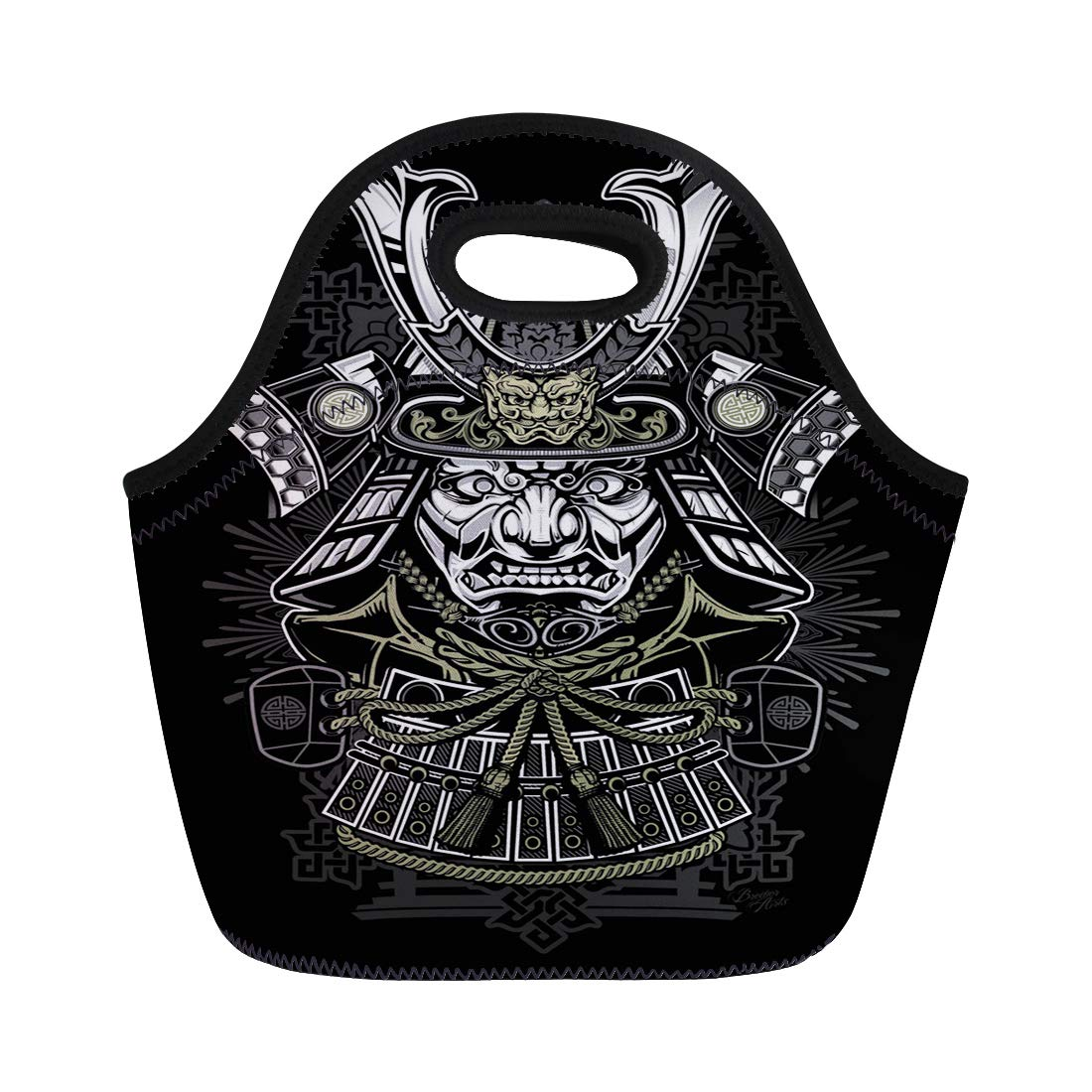 Amazon.com: Semtomn Lunch Bags Demon Tattoo Samurai Japanese ...