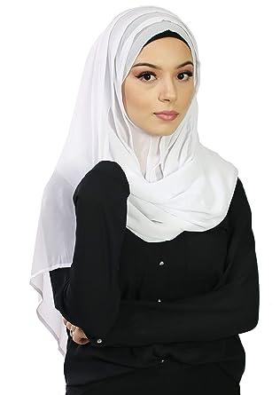 répliques 100% de qualité marque célèbre Hijab à enfiler entiérement cousu pour femme musulmane ...