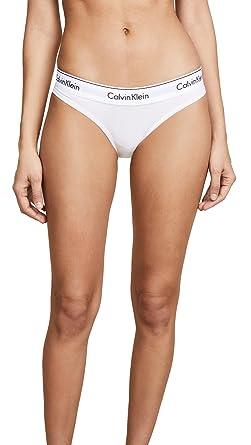 0cdc8ac38c Calvin Klein Womens Modern Cotton Tanga Panty Bikini Style Underwear - White  -  Amazon.co.uk  Clothing