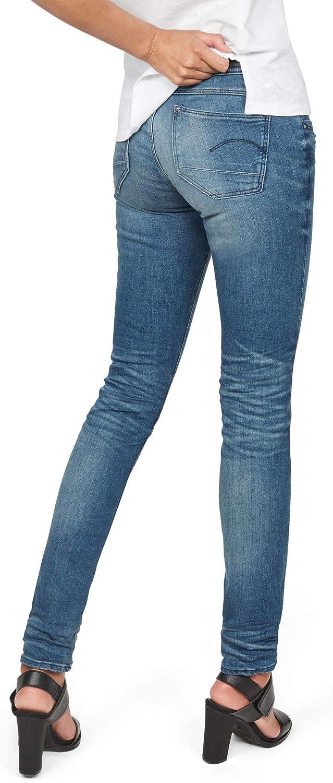 G-Star Raw Womens Lynn Mid Rise Skinny Fit Jean in Frakto Superstretch Medium Aged