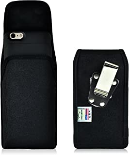 product image for Turtleback Belt Clip Case Made for iPhone 6S+ Plus Juice Pack Air Space Black Vertical Holster Nylon Pouch with Heavy Duty Rotating Belt Clip Made in USA