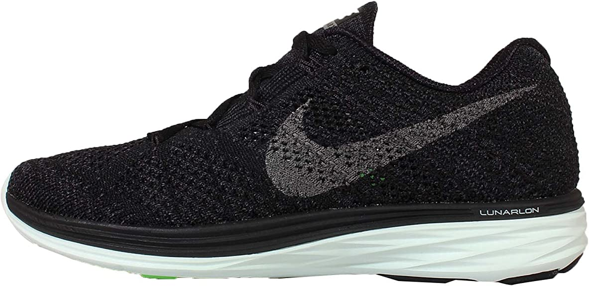 Nike Wmns Flyknit Lunar3 LB, Zapatillas de Running para Mujer, Negro (Blk/Mtlc Pwtr-Anthrct-Brly Grn), 36 EU: Amazon.es: Zapatos y complementos