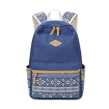 Impresión de lona marca Mochila para portátil de gran capacidad mujer mochilas escolares para niñas adolescentes