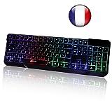 KLIM Chroma Clavier Gamer AZERTY Filaire USB - Haute Performance - Éclairé chromatique Gaming