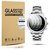 Diruite 4-Pack for Fossil Q Explorist Gen 3 Smart Watch Tempered Glass Screen Protector [Perfectly Fit] [Optimized Version]