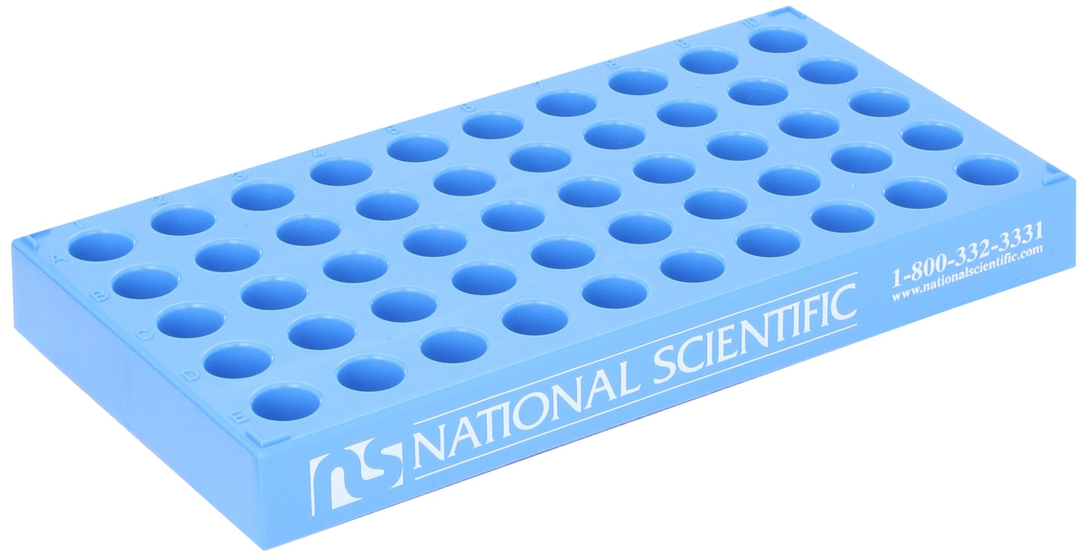 National Scientific C4012-25 Polypropylene Vial Rack for 12mm Diameter Vial (Case of 5)