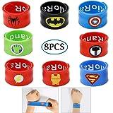 Slap Bracelets for Kids Party Supplies Favors Boy's Wristband Accessories Wrist Strap Gift Supplies 8PCS (8pcs)