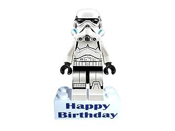 Stormtrooper storm trooper minifigure on happy birthday message stormtrooper storm trooper minifigure on happy birthday message brick great gift alternative to bookmarktalkfo Images