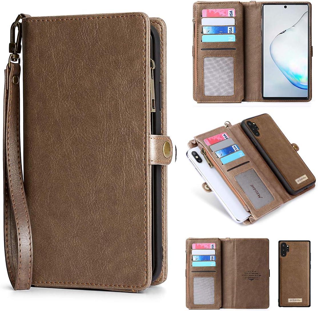 kelaSip - Funda tipo cartera para Samsung Galaxy Note 10 Plus (piel, cierre magnético, desmontable), diseño con texto en inglés