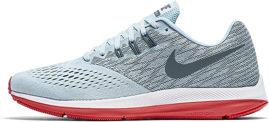 NIKE Zoom Winflo 4 - Zapatillas de Running, Hombre, Azul - (Ice Blue/Blue Fox-Bright Crimson-White): Amazon.es: Deportes y aire libre