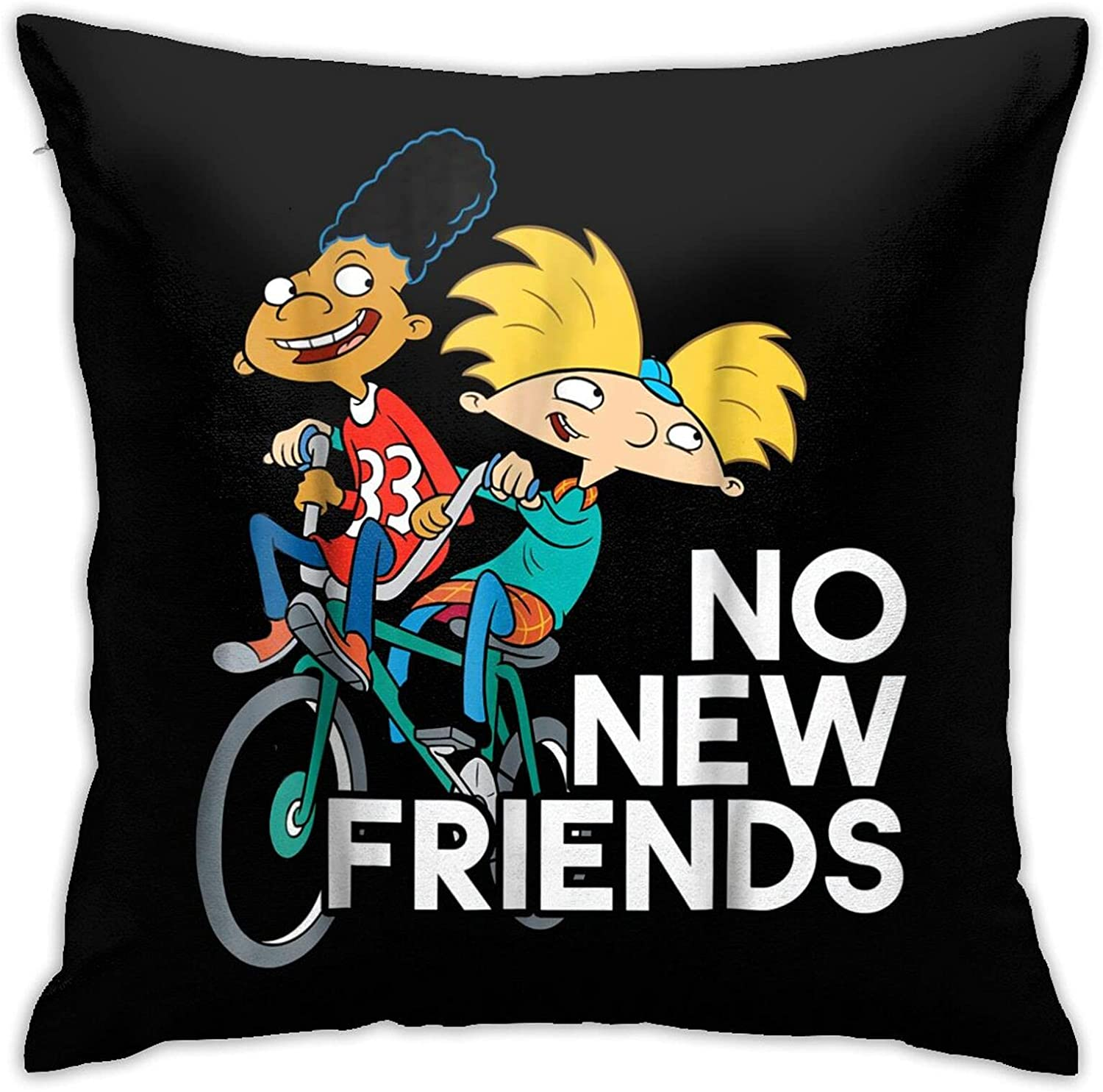Rasbctk Hey Arnold Pattern Throw Pillow Covers Cotton Polyester Cushion Cover Cases Pillowcases Sofa Home Decor 18â€X 18â€/ 45 X 45 cm