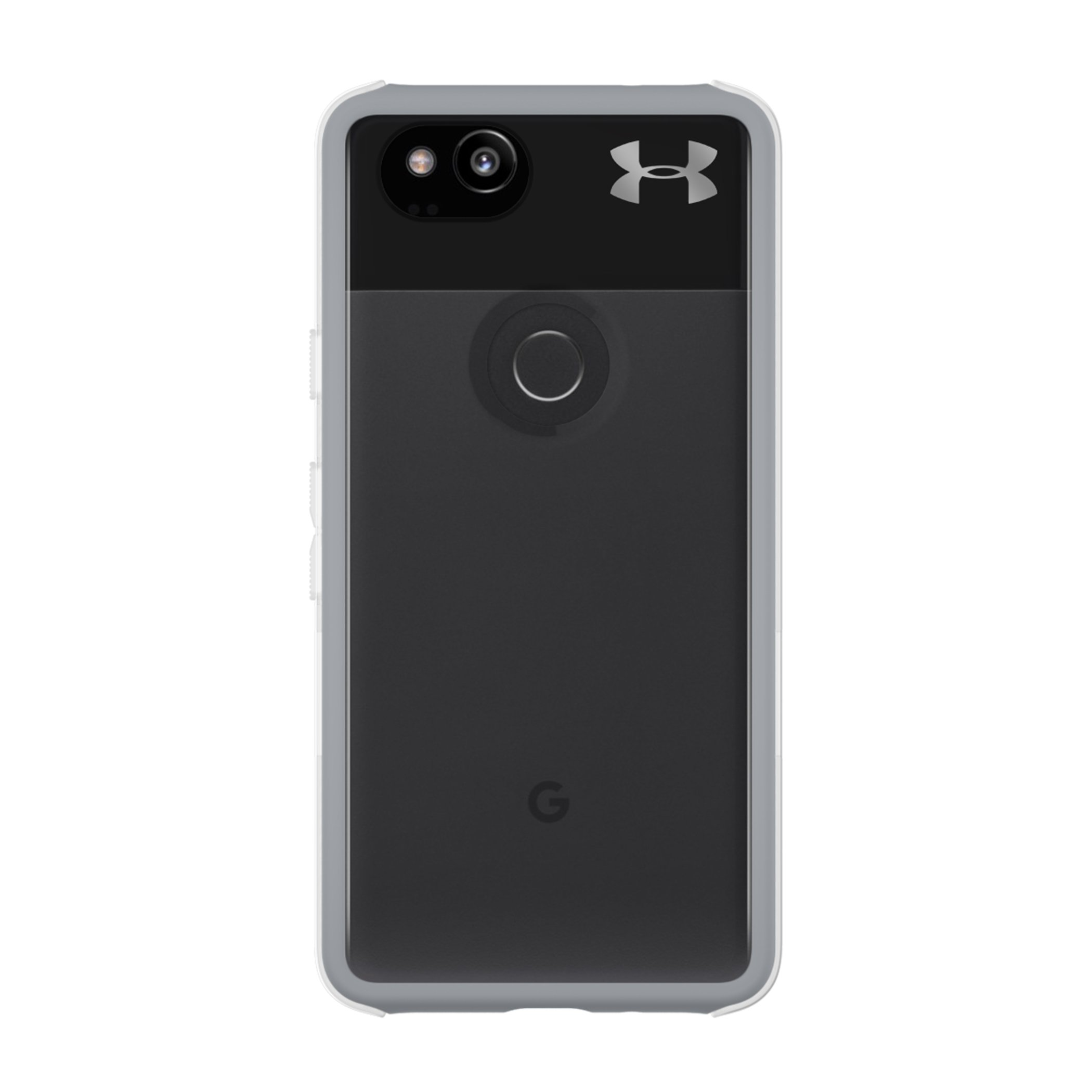 Under Armour UA Protect Verge Case for Google Pixel 2 - Clear/Cool Gray 10C / Gunmetal Logo