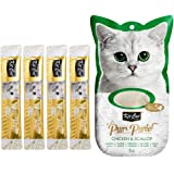 Kit-Cat Purr Puree Chicken & Scallop Wet Cat Treat Tubes 4x15g