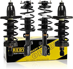 OREDY Struts Full Set of 4 Coil Springs Suspension Front Rear Shocks Struts 15123 15124 11505 11506 Complete Struts Assembly Compatible with Ridgeline AWD 2006 2007 2008 2009 2010 2011 2012 2013 2014