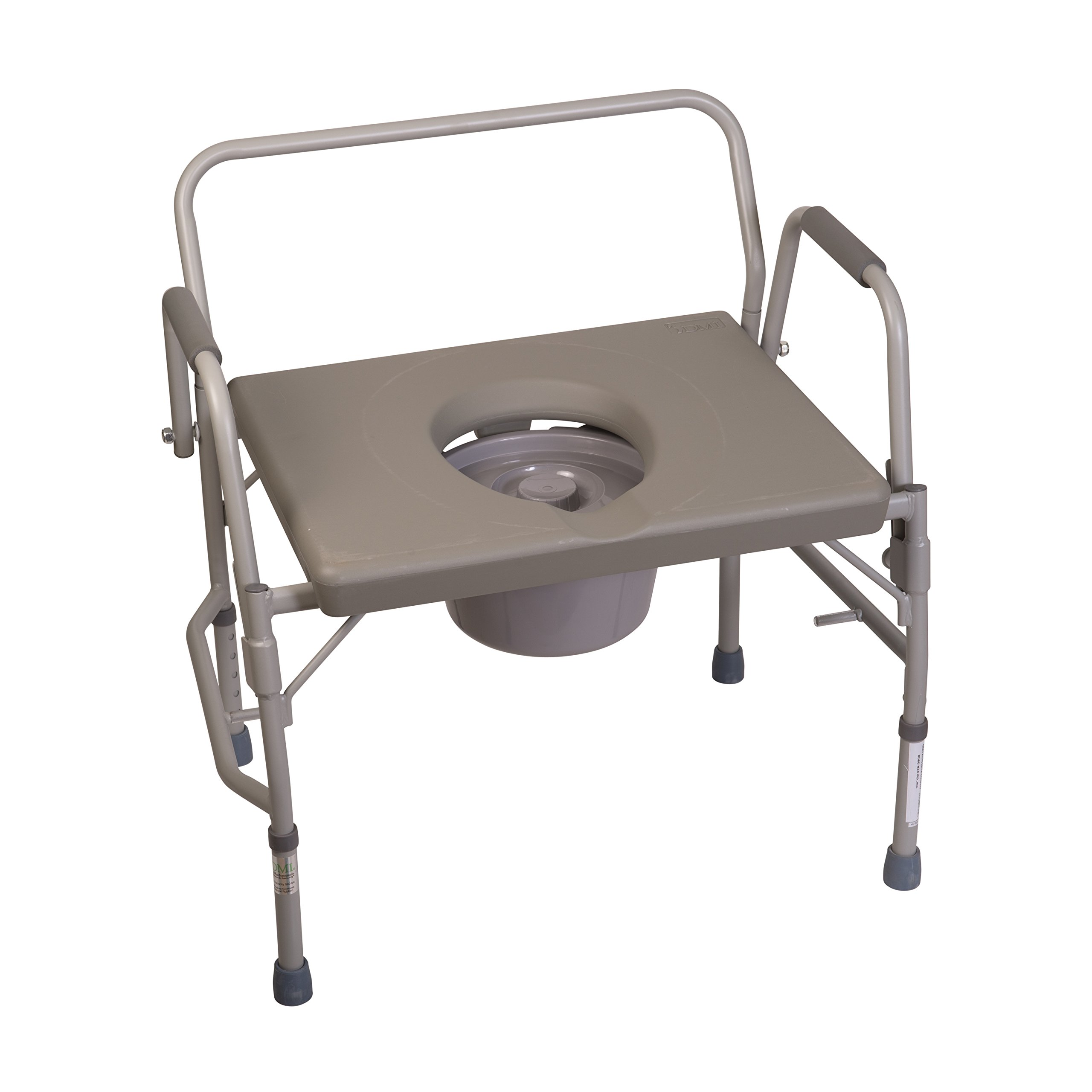 Duro-Med Commode Chair, Heavy-Duty Steel Commode Toilet Chair, Toilet Safety Frame by HealthSmart