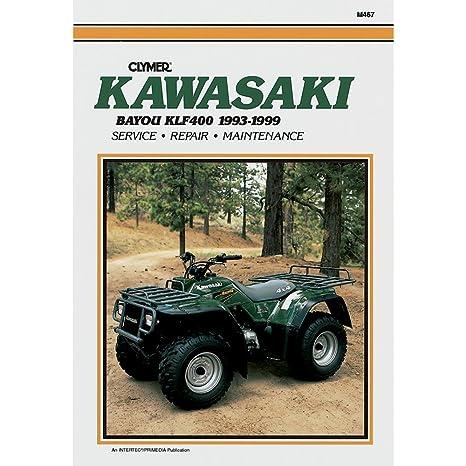 amazon com clymer atv manual kawasaki bayou klf400 manufacturer rh amazon com