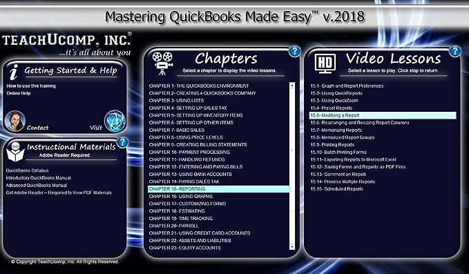 Amazon Learn Quickbooks Pro 2018 Deluxe Cpe Training Tutorial