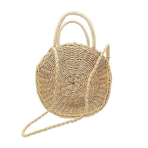 Amazon.com: Beauty Yaya - Bolso de paja para mujer, redondo ...